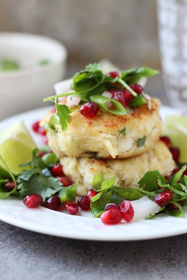 Crispy Crab Cakes with Pomegranate Salsa8