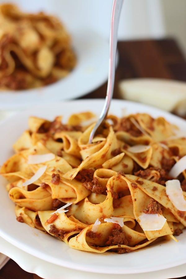 Slow-Cooker Bolognese Paparadelle