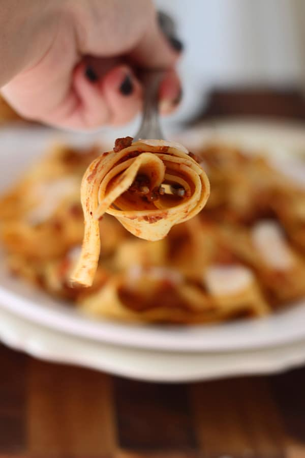 Slow-Cooker Bolognese Twist