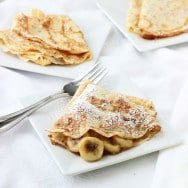 Skinny Bananas Foster Crepes