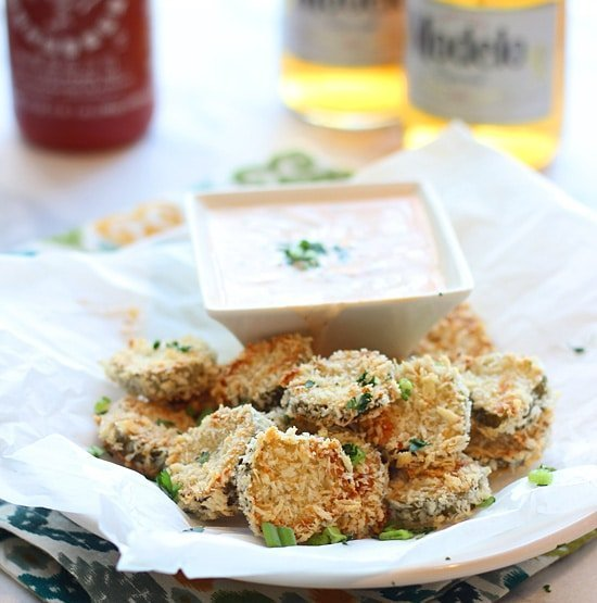 Baked Fried Pickles with Homemade Sirracha Ranch PS1