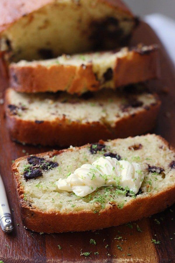 Dark Chocolate Chunk Coconut Key Lime Pound Cake 3