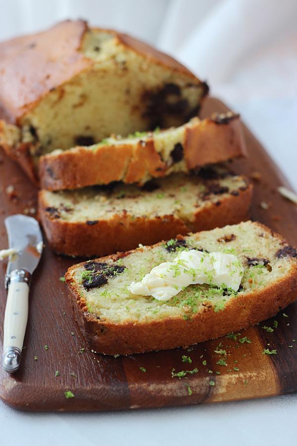 Dark Chocolate Chunk Coconut Key Lime Pound Cake
