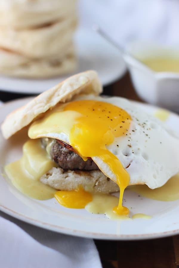 Eggs Benedict Burger 4