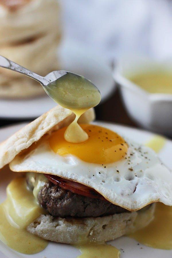Eggs Benedict Burgers 4