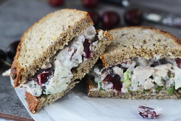 Lightened Up Chicken Salad with Bing Cherries, Pecans and Blue Cheese 3