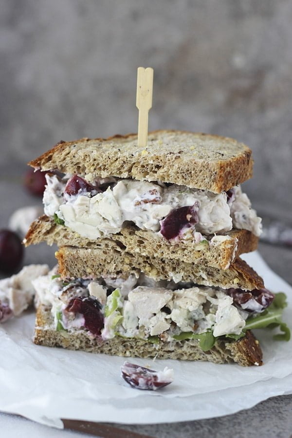 Lightened Up Chicken Salad with Bing Cherries, Pecans and Blue Cheese 4