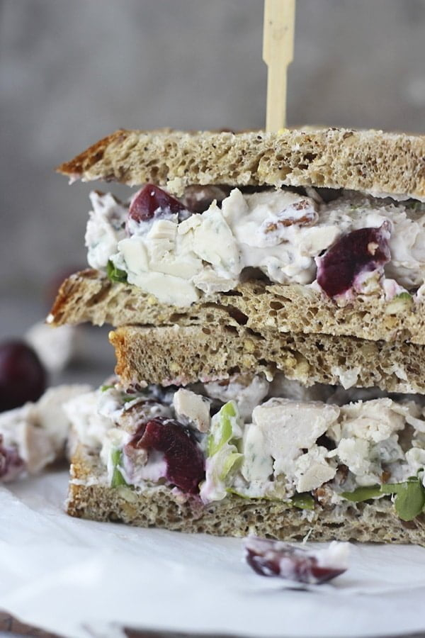Lightened Up Chicken Salad with Bing Cherries, Pecans and Blue Cheese 5