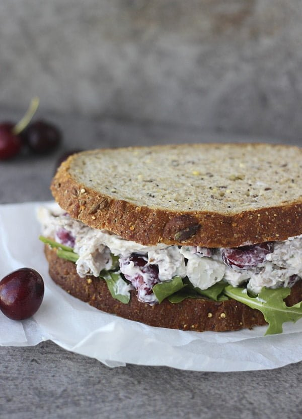 Lightened Up Chicken Salad with Bing Cherries, Pecans and Blue Cheese 7