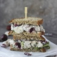 Lightened-Up Chicken Salad with Bing Cherries, Pecans and Blue Cheese