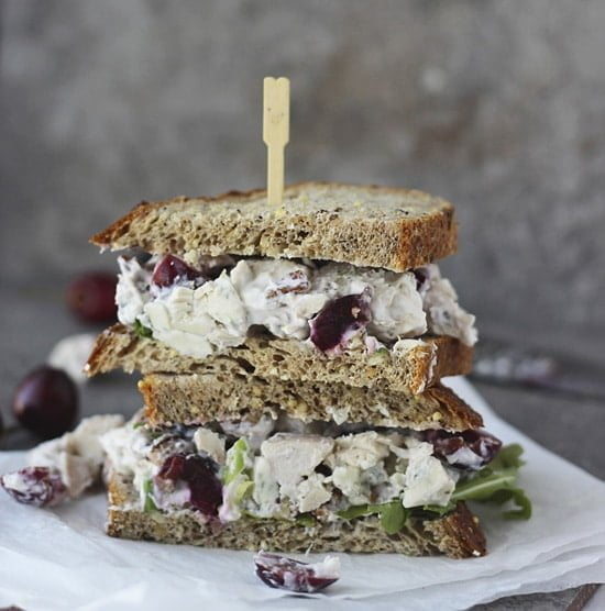 Lightened Up Chicken Salad with Bing Cherries, Pecans and Blue Cheese PS1