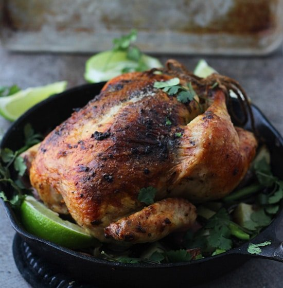 Poblano and Cilantro Roast Chicken PS1