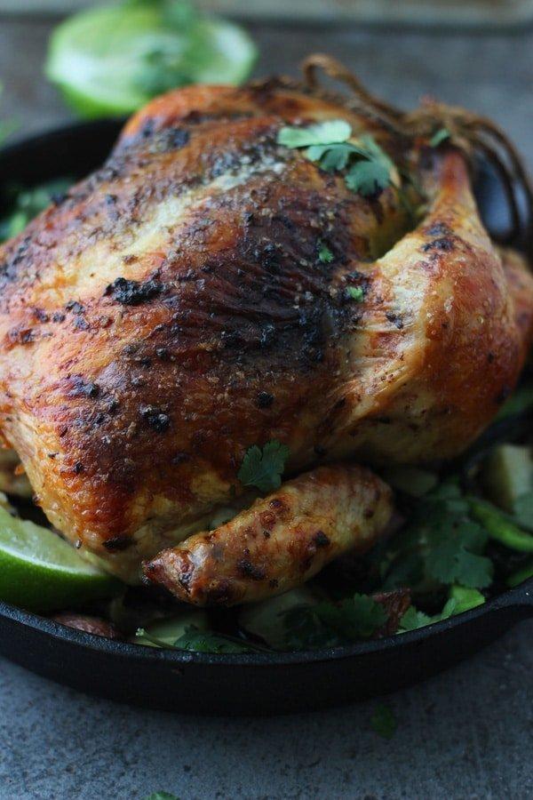 Poblano and Cilantro Roast Chicken