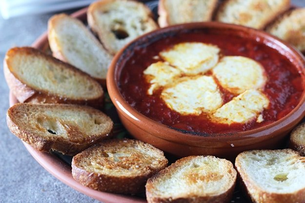 Baked Goat Cheese in Tomato Sauce 2