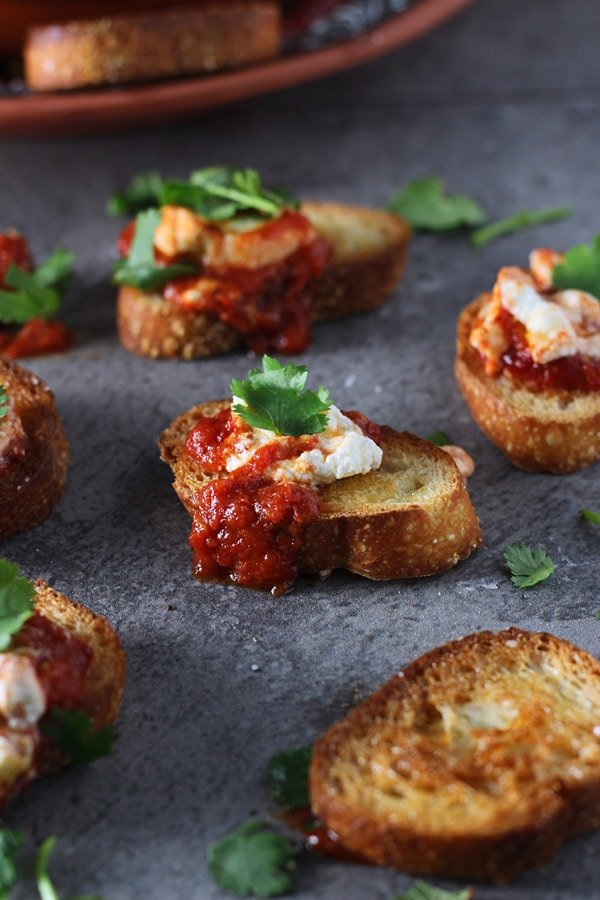 Baked Goat Cheese in Tomato Sauce 4