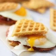 Heart Shaped Waffle Croque Madame Sliders