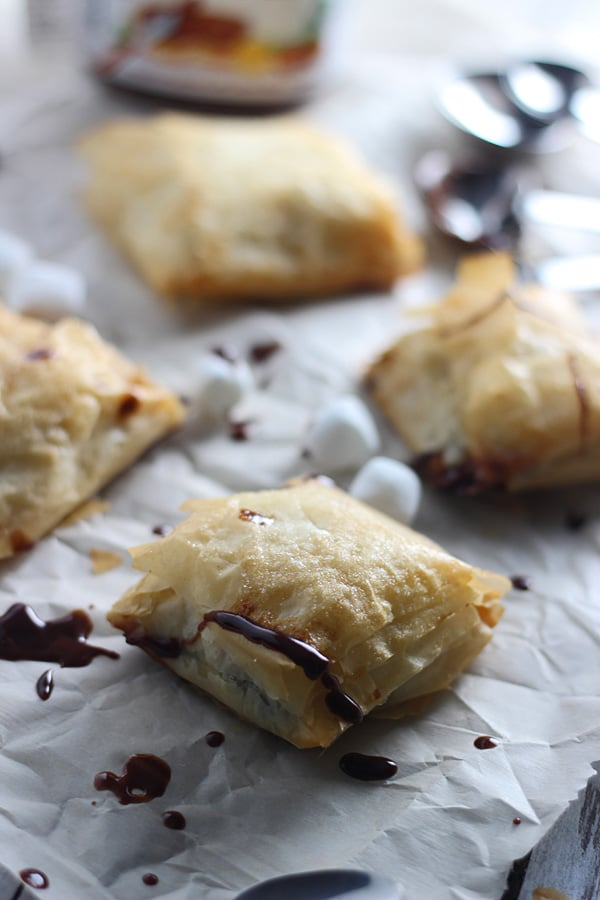 Peanut Butter Nutella Phyllo Pockets 2