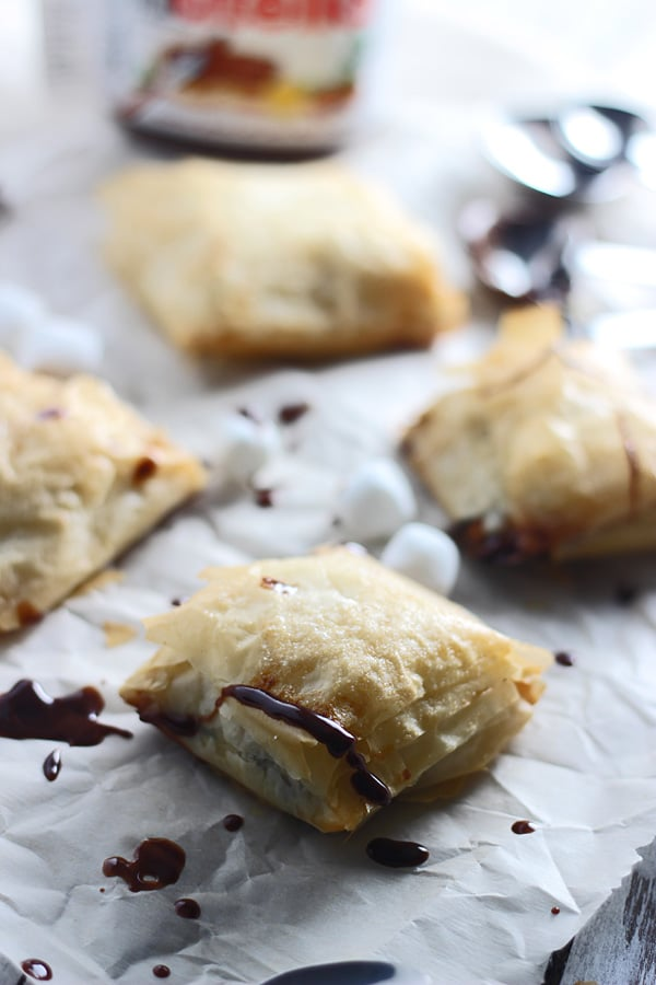 Peanut Butter Nutella Phyllo Pockets 4