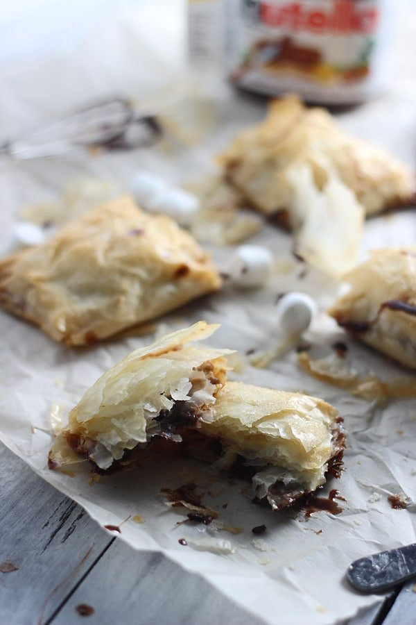 Peanut Butter Nutella Phyllo Pockets 5