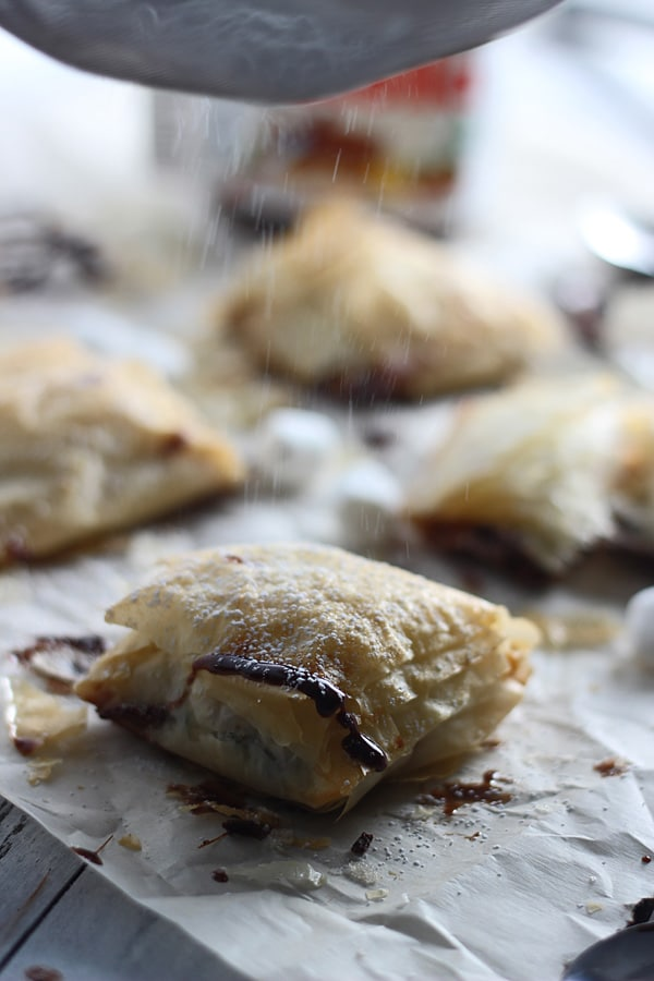 Peanut Butter Nutella Phyllo Pockets 6