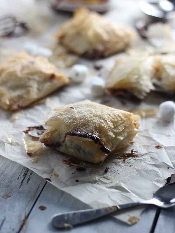 Peanut Butter Nutella Phyllo Pockets 7