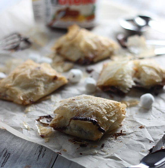 Peanut Butter Nutella Phyllo Pockets 8