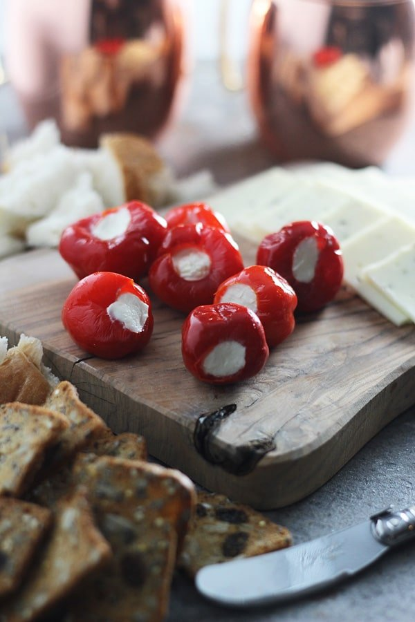 Peppadew Peppers Stuffed with Whipped Feta by Cooking for Keeps