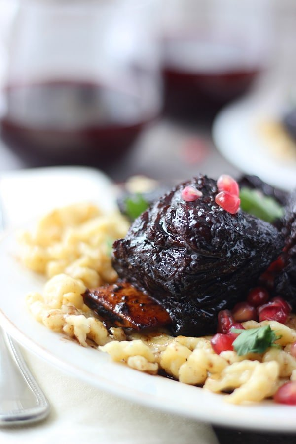 Pomegranate-Braised Short Ribs Recipe — Dishmaps