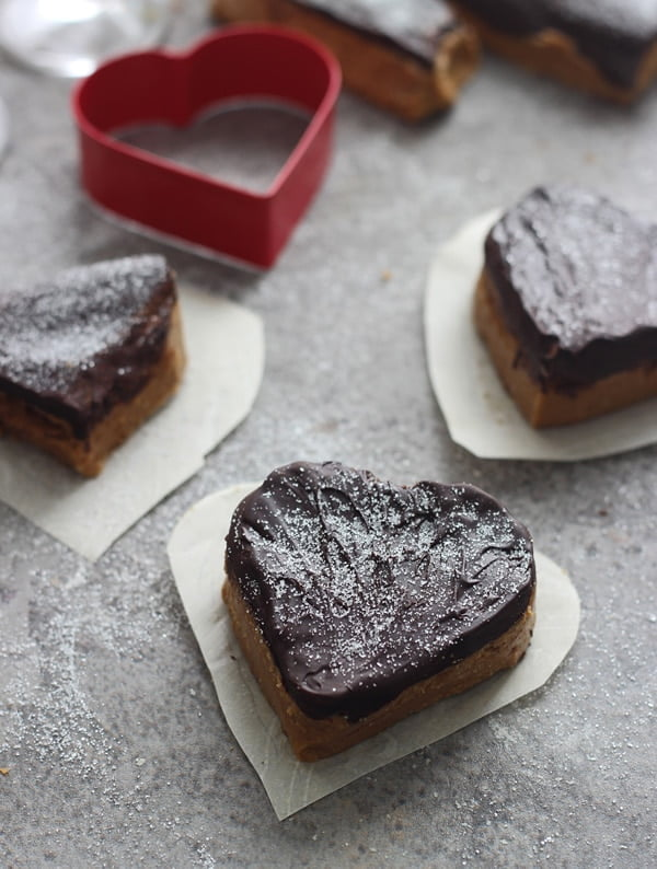 Valentines Chocolate and Peanut Butter Hearts 7