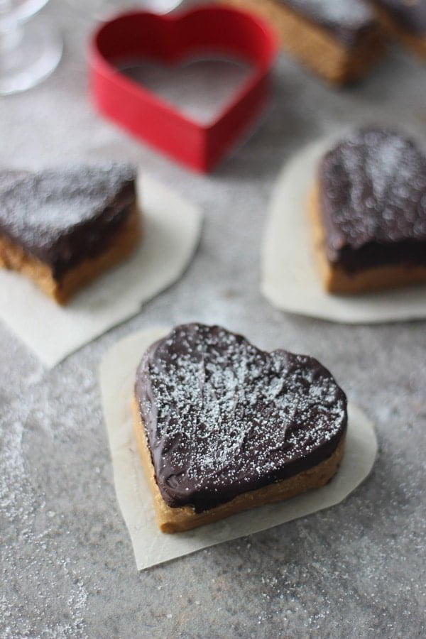 Valentines Chocolate and Peanut Butter Hearts 9