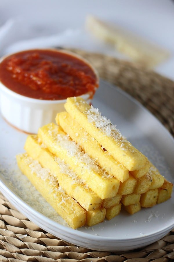... polenta with comte cheese crispy olive polenta sticks with marinara