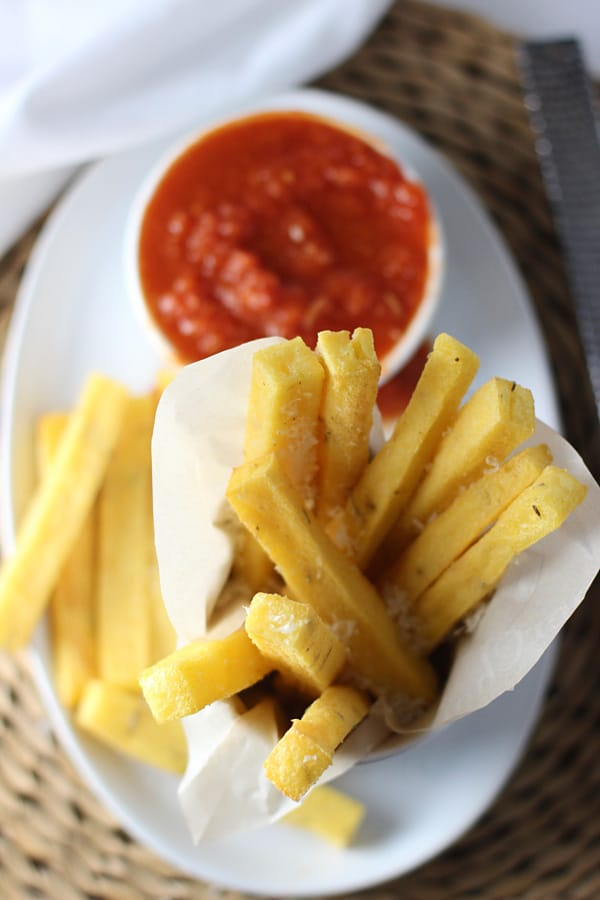 Crispy Baked Polenta Fries with Spicy Tomato Dipping Sauce ...
