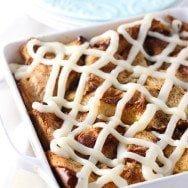 Gooey Cinnamon Roll Baked French Toast Casserole