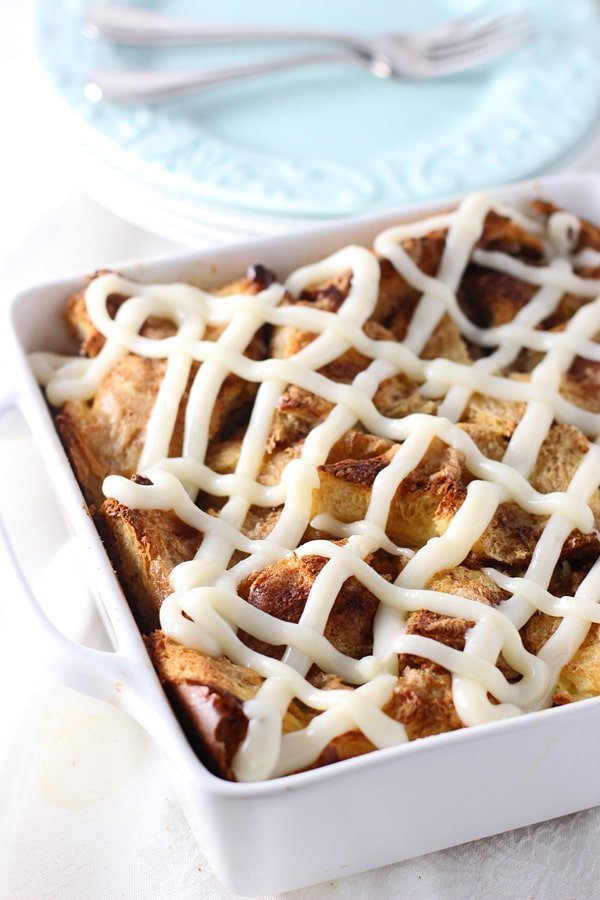Gooey Cinnamon Roll Baked French Toast Casserole