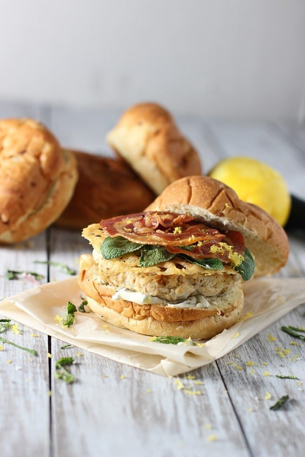 Saltimbocca Turkey Burgers via Cooking for Keeps