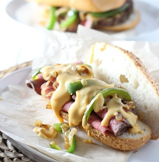 Skinny Roast Beef and Cheddar Sandwiches PS