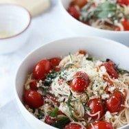 20 Minute Cherry Tomato and Basil Angel Hair ~ Oh Sweet Basil
