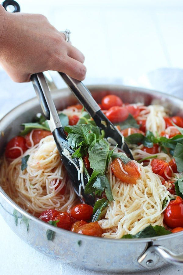 20 Minute Cherry Tomato and Basil Angel Hair 8