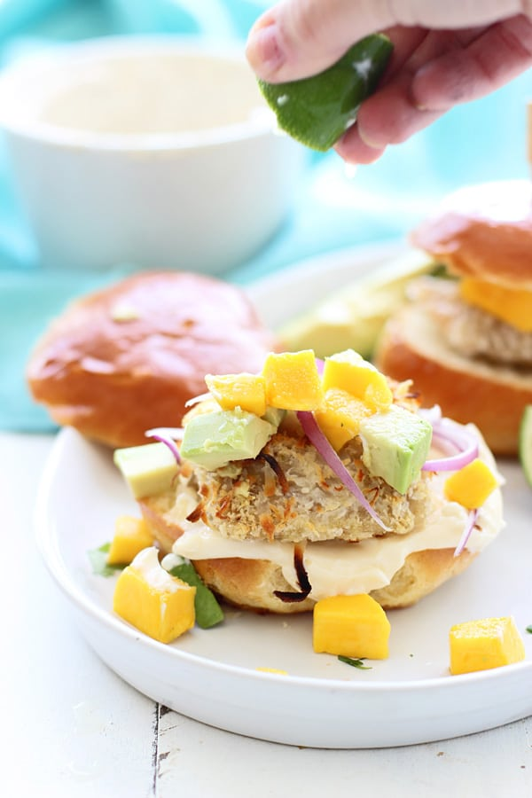 Coconut Crusted Mahi Mahi Sliders with Avocado, Mango and ...