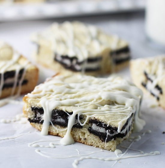 Cookies and Cream White Chocolate Blondies PS1