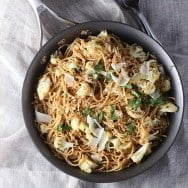 Spicy Whole-Wheat Pasta with Roasted Cauliflower, Brown Butter and Garlic
