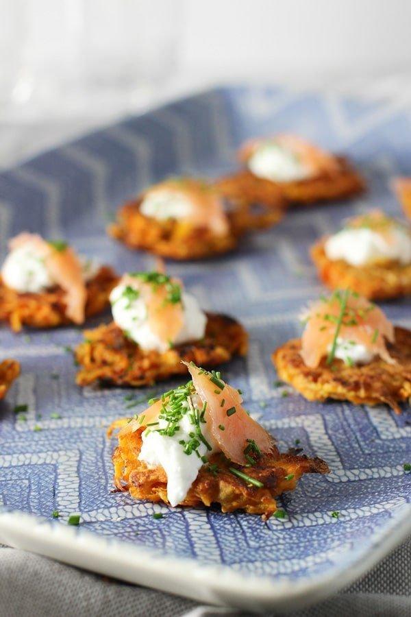 Sweet Potato Latkes with Greek Yogurt and Smoked Salmon 5