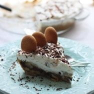 Banana Cream Pie with Chocolate Ganache and Vanilla Wafer Crust