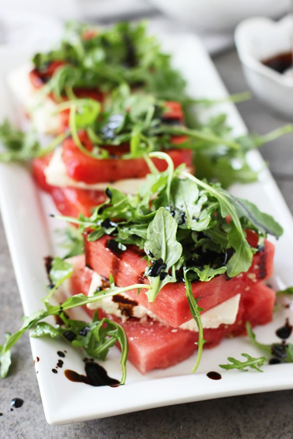 Grilled Watermelon & Feta Stacked Salad 3