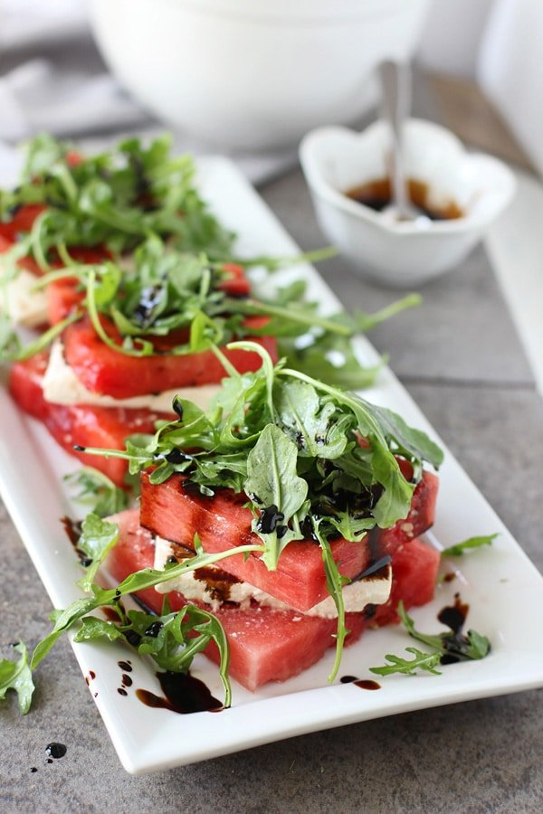Grilled Watermelon & Feta Stacked Salad 4