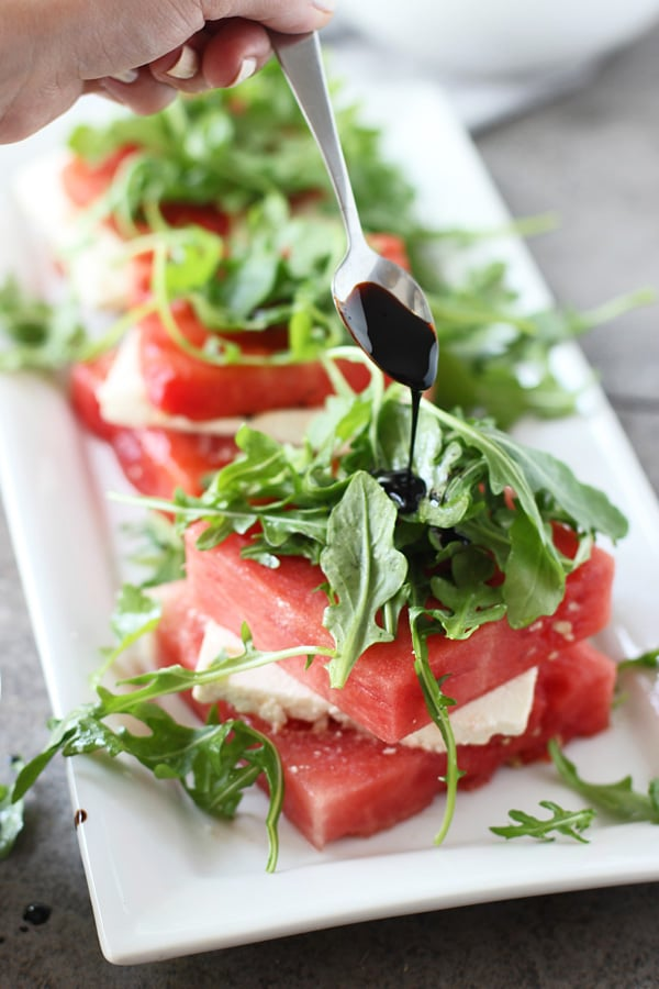 Grilled Watermelon & Feta Stacked Salad 6