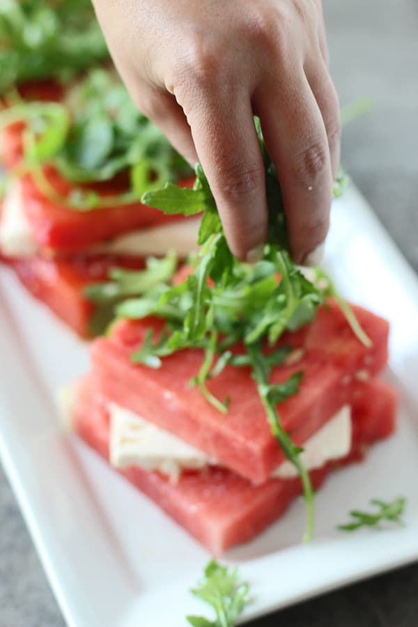 Grilled Watermelon & Feta Stacked Salad 8