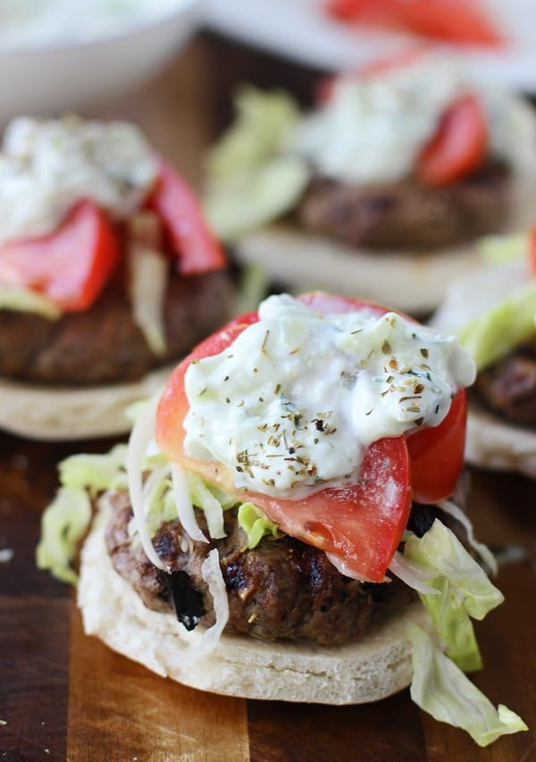 Gyro Burgers with Taziki Sauce and Seasoned French Fries 4