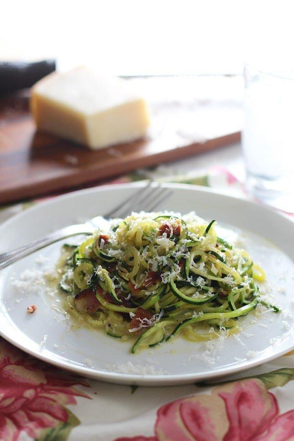 Zucchini Pasta Carbonara 2