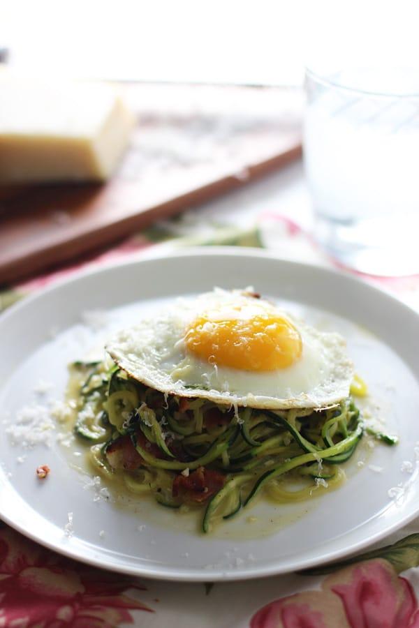 Zucchini Pasta Carbonara 7